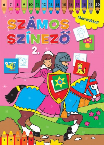 SZÁMOS SZÍNEZŐ MATRICÁKKAL 2.- RÓZSASZÍN - Ekönyv - NAPRAFORGÓ KÖNYVKIADÓ
