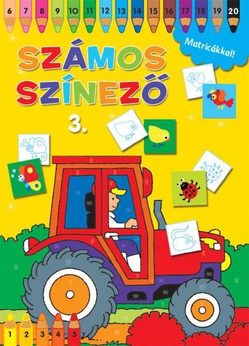 SZÁMOS SZÍNEZŐ MATRICÁKKAL 3. - SÁRGA - Ekönyv - NAPRAFORGÓ KÖNYVKIADÓ