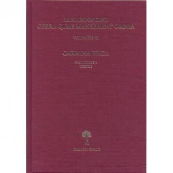 IANI PANNONII OPERA QUAE SUPERSUNT OMNIA III. - CARMINA EPICA. - Ekönyv - MAYER GYULA