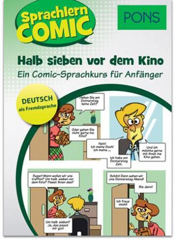 SPRACHLERN COMIC - HALB SIEBEN VOR DEM KINO (PONS) - Ekönyv - KLETT KIADÓ