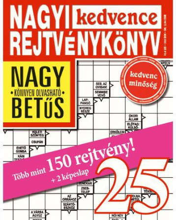 NAGYI KEDVENCE REJTVÉNYKÖNYV 25. - Ekönyv - CSOSCH KFT.