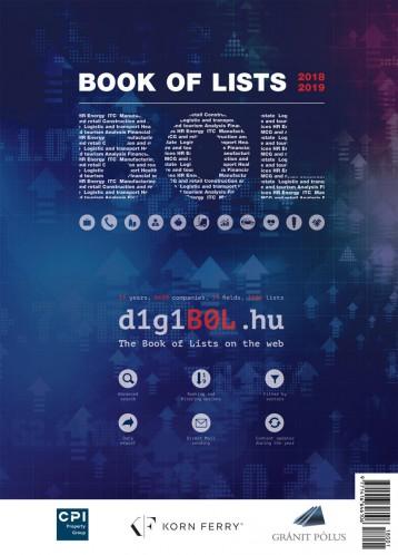 BOOK OF LISTS - LISTÁK KÖNYVE 2018/2019 - Ekönyv - BUSINESS PUBLISHING SERVICES KFT.