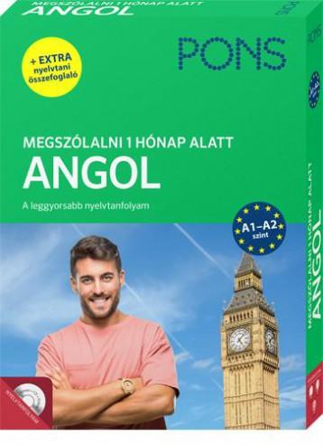 PONS MEGSZÓLALNI 1 HÓNAP ALATT – ANGOL (KÖNYV + CD) - ÚJ - Ekönyv - KLETT KIADÓ