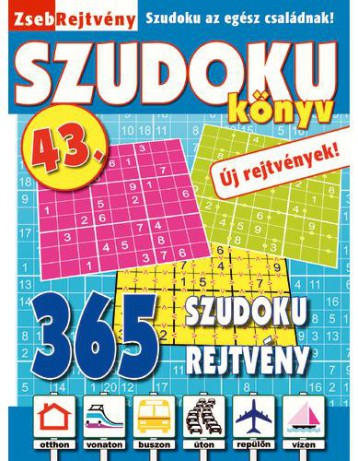 ZSEBREJTVÉNY SZUDOKU KÖNYV 43. - Ekönyv - CSOSCH KFT.