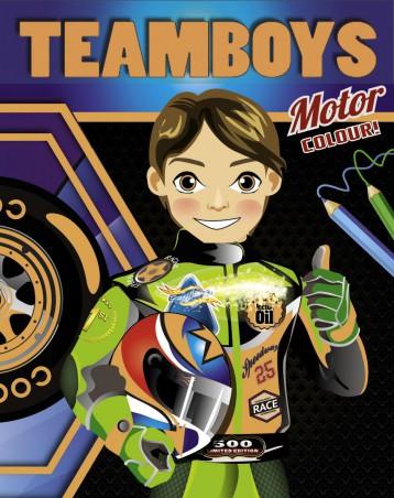 TEAMBOYS - COLOURING - Motor - Ekönyv - NAPRAFORGÓ KÖNYVKIADÓ