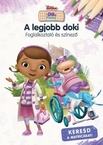 A LEGJOBB DOKI - FOGLALKOZTATÓ ÉS SZÍNEZŐ - DISNEY JUNIOR - Ekönyv - MANÓ KÖNYVEK