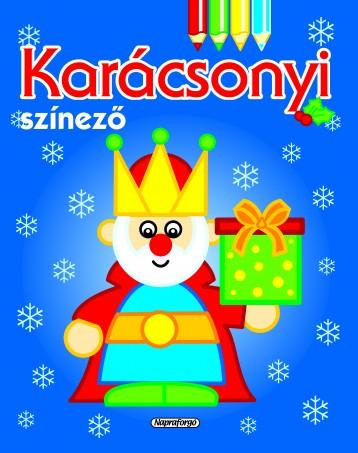 Karácsonyi színező - Kék - Ekönyv - NAPRAFORGÓ KÖNYVKIADÓ