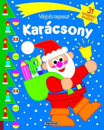Vágj és ragassz! - Karácsony - Kék - Ekönyv - NAPRAFORGÓ KÖNYVKIADÓ
