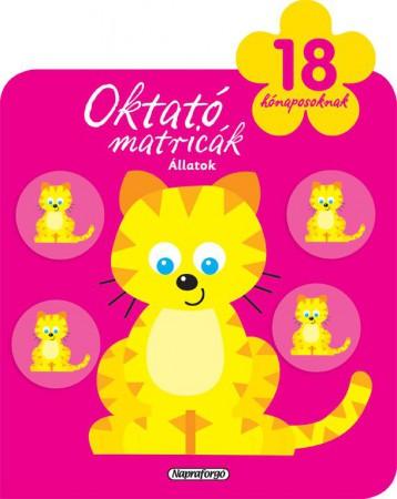 Oktató matricák - Állatok (18 hónaposoknak) - Ekönyv - NAPRAFORGÓ KÖNYVKIADÓ