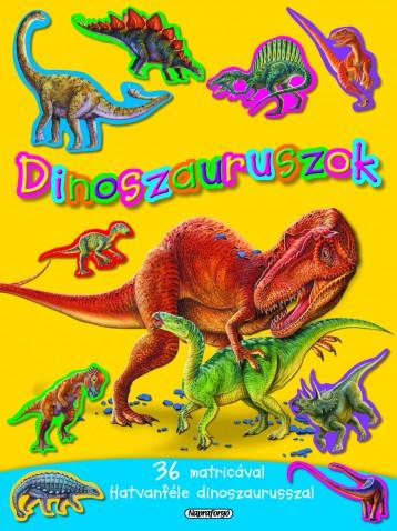 Dinoszauruszok -  Mozgalmas matricásfüzet - Ekönyv - NAPRAFORGÓ KÖNYVKIADÓ