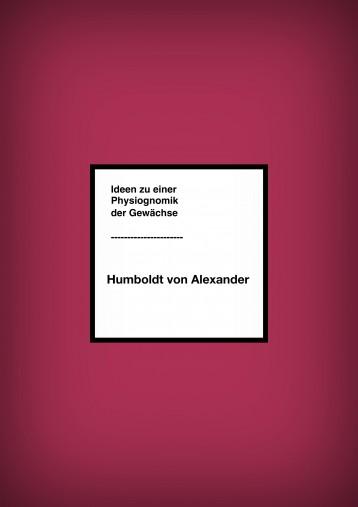 Ideen zu einer Physiognomik der Gewächse - Ekönyv - Humboldt von Alexander