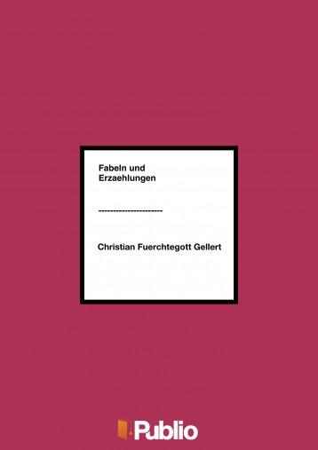 Fabeln und Erzaehlungen - Ebook - Christian Fuerchtegott Gellert