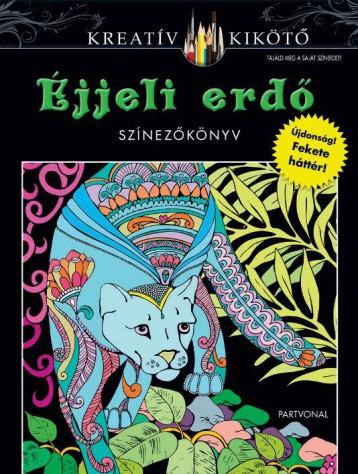ÉJJELI ERDŐ - SZÍNEZŐKÖNYV - Ekönyv - PARTVONAL KIADÓ