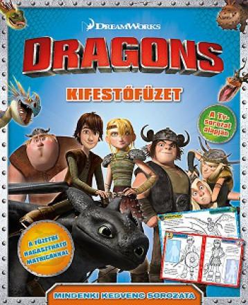 Dragons - kifestőfüzet matricákkal - Ekönyv - NAPRAFORGÓ KÖNYVKIADÓ