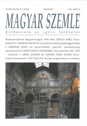 MAGYAR SZEMLE - 2016. ÁPRILIS - Ebook - MAGYAR SZEMLE