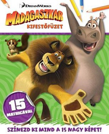 Madagaszkár - kifestőfüzet matricákkal - Ekönyv - NAPRAFORGÓ KÖNYVKIADÓ