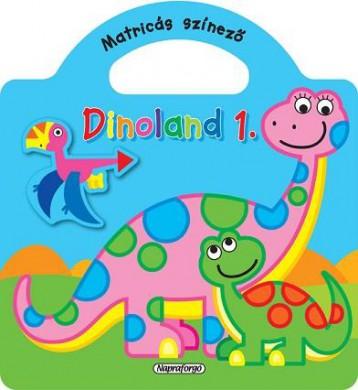 Dinoland 1. - Matricás színező, Kék - Ekönyv - NAPRAFORGÓ KÖNYVKIADÓ