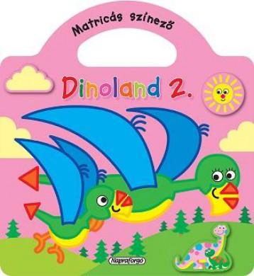 Dinoland 2. - Matricás színező, Rózsaszín - Ekönyv - NAPRAFORGÓ KÖNYVKIADÓ