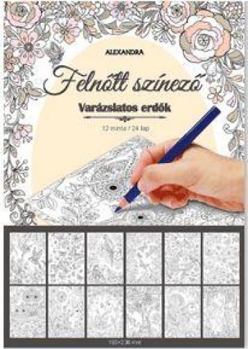 VARÁZSLATOS ERDŐK - FELNŐTT SZÍNEZŐ - Ekönyv - ALEXANDRA KIADÓ