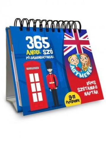 365 ANGOL SZÓ PÉLDAMONDATOKKAL 9-11 ÉVESEKNEK - AGYMENŐK KÉPES SZÓTANULÓ NAPTÁR - Ekönyv - HVG KÖNYVEK