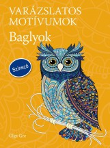 VARÁZSLATOS MOTÍVUMOK - BAGLYOK - SZÍNEZŐ - Ekönyv - GRE, OLGA
