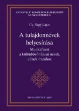A TULAJDONNEVEK HELYESÍRÁSA - MUNKAFÜZET A KÜLÖNBÖZŐ TÍPUSÚ NEVEK, CÍMEK ÍRÁSÁHO - Ekönyv - CS. NAGY LAJOS