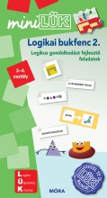 LOGIKAI BUKFENC 2. - MATEMATIKAI GONDOLKODÁST FEJLESZTŐ F.  3-4. O. - MINILÜK - Ekönyv - LDI539
