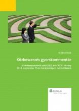 Közbeszerzés gyorskommentár - Ekönyv - Dr. Tátrai Tünde