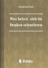 Was heißt: sich im Denken orientieren - Ebook - Immanuel Kant