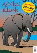 AFRIKAI ÁLLATOK - KIFESTŐ+AJÁNDÉK 3D-S KÉP - Ekönyv - APÁKA