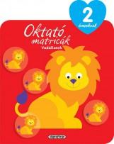 Oktató matricák - Vadállatok (2 éveseknek) - Ekönyv - NAPRAFORGÓ KÖNYVKIADÓ
