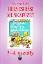 HELYESÍRÁSI MUNKAFÜZET 3-4. OSZTÁLY (TR-0023) - Ekönyv - CS. NAGY LAJOS