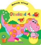 Dinoland 4. - Matricás színező, Sárga - Ekönyv - NAPRAFORGÓ KÖNYVKIADÓ