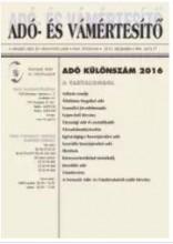 ADÓ- ÉS VÁMÉRTESÍTŐ - ADÓ KÜLÖNSZÁM 2016 - Ekönyv - SALDO ZRT.